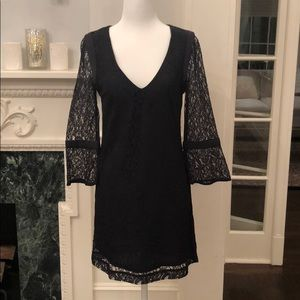 French Connection lace V neck dress